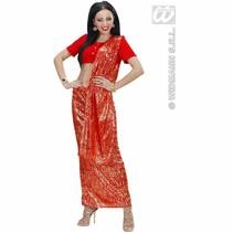 Indiaas kostuum dames rood