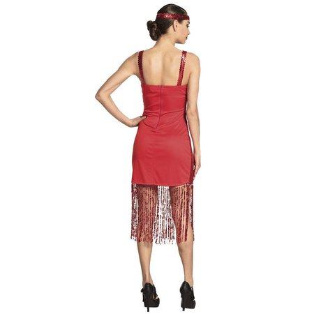 Flapper kostuum rood Scarlett