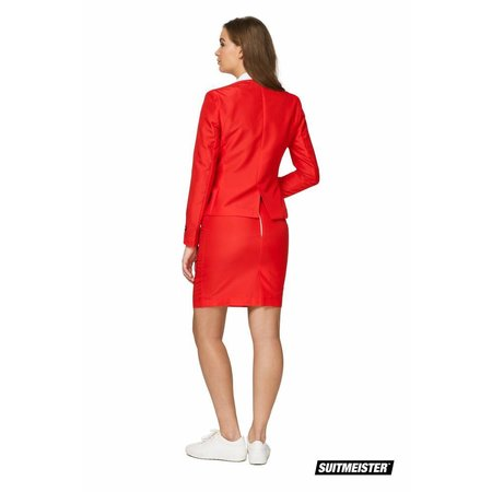 Gala kostuum rood dames