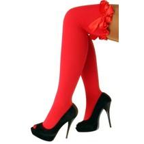 Kousen rood met rode strikken Britney