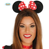 Haarband Mini Mouse met rode strik