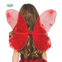 Rode vleugels 44x37cm