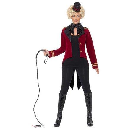 Rode circus slipjas vrouw