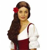 Haarclip met rode roos 10 cm