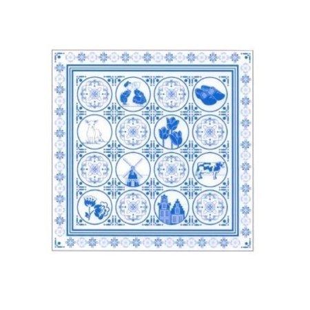 Zakdoek Delfts blauw