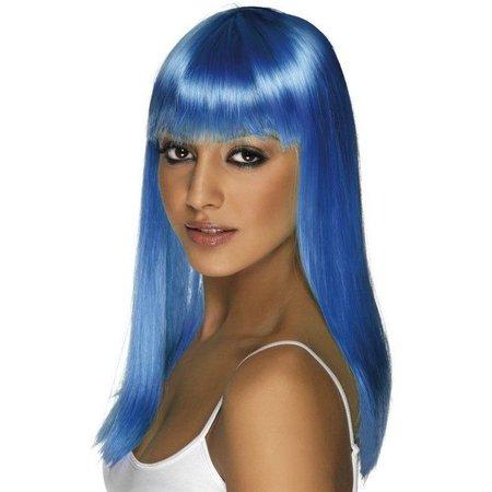 Glamourama pruik neon blauw