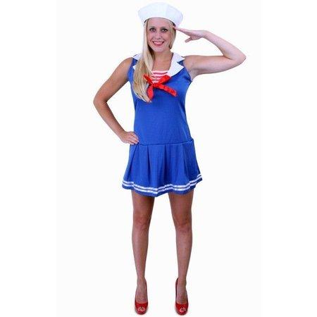 Marine vrouw jurkje blauw