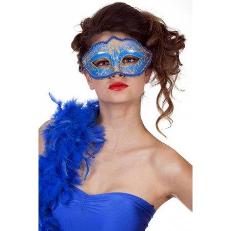 Masker met rand blauw