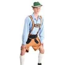 Oktoberfest Blouse blauw/wit