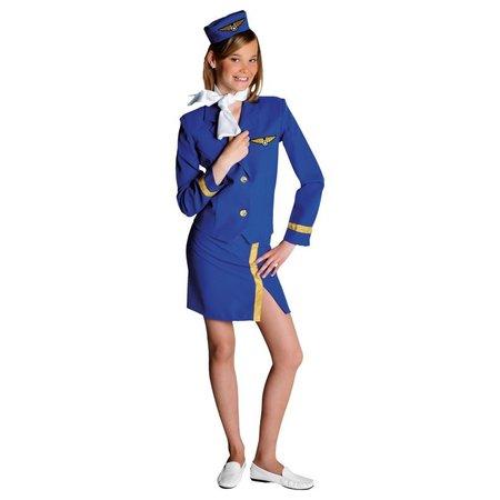 Stewardess kleding kind blauw