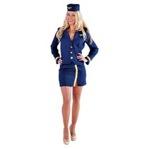 Stewardess outfit blauw elite