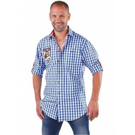 Blouse Tiroler Edelweiss elite blauw