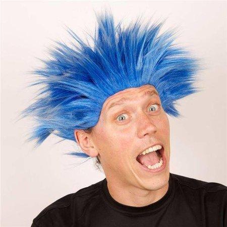 Pruik Electric shock blauw