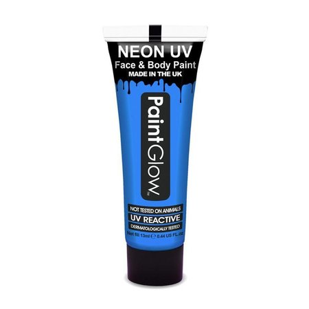 Neon Face & Body paint neon blauw UV G.I.D 10ml