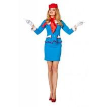 Stewardessenpakje blauw Patty