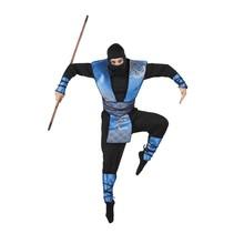 Blauwe ninja pak mannen
