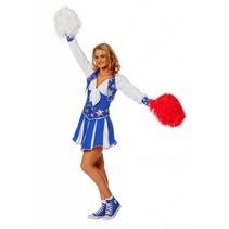 Cheerleader pakje luxe blauw