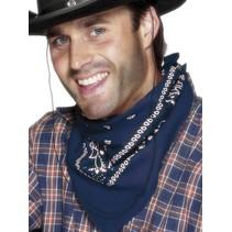 Western bandana/halsdoek blauw