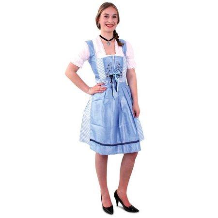Tiroler jurk dirndl blauw/wit