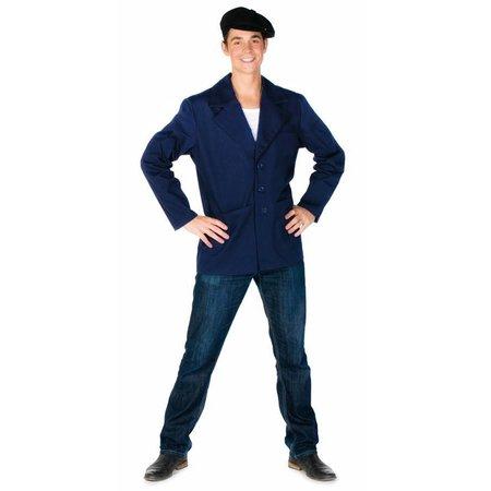 Boeren jas blauw