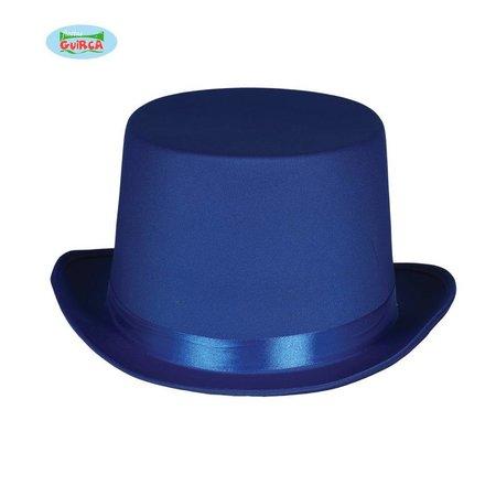 Blauwe hoge hoed