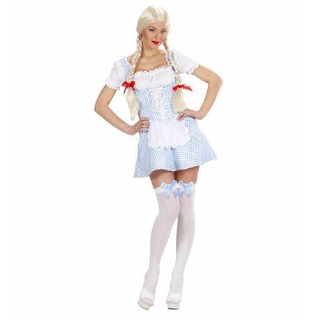 Miss Muffet kostuum lichtblauw