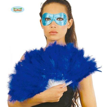 Veren waaier blauw