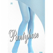 Panty azuurblauw