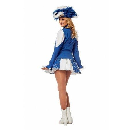 Dansmarietje pakje blauw/wit vrouw