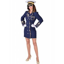 Marine jas dames blauw