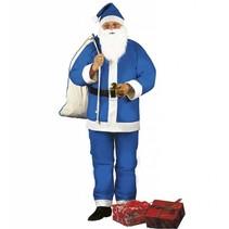 Kerstman kostuum blauw volwassenen