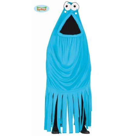 Monster kostuum blauw
