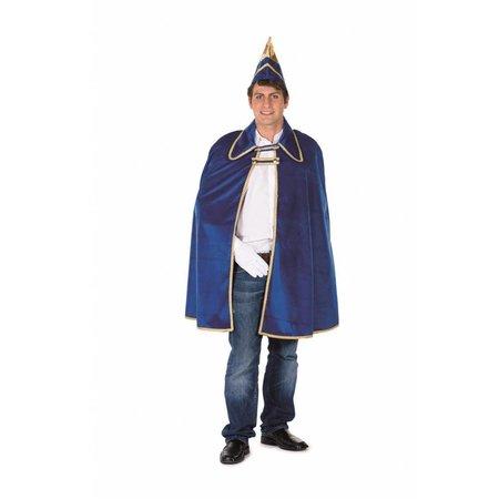 Prinsencape blauw met steek heren