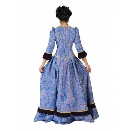 Jonkvrouw jurk blauw Caroline