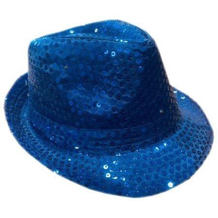 Tribly hoed pailletten kobalt blauw met led