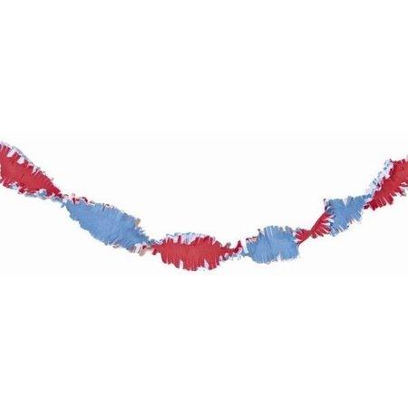 Rood Wit Blauw Crepe Papier Slinger 24 meter