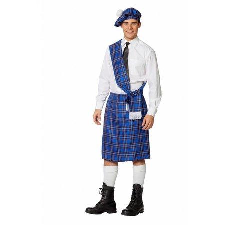 Schots Kostuum Man Blauw 3-Delig