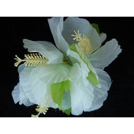 Haarclip bloemen wit