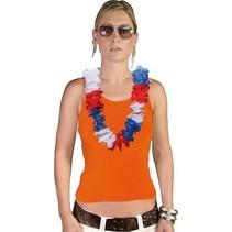 Hawaii krans rood-wit-blauw