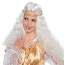 Engelen pruik wit
