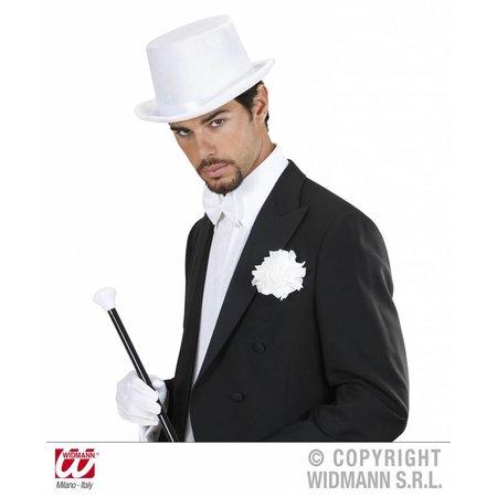 Hoge hoed fluweel wit