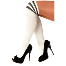Cheerleader sokken wit/zwart