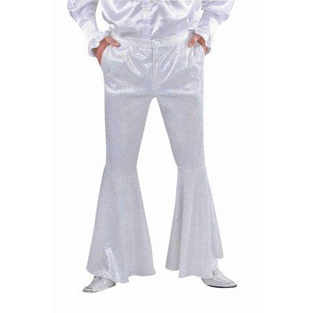 Disco broek pailletten wit man