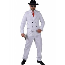 Gangster kostuum Wit Slim Jimma