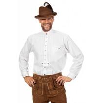 Tiroler blouse man wit