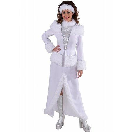Witte ijsdame kostuum