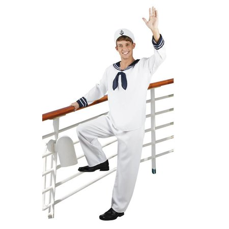 Sailor Matrozen kostuum man wit
