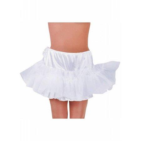 Petticoat kort wit met tunnel