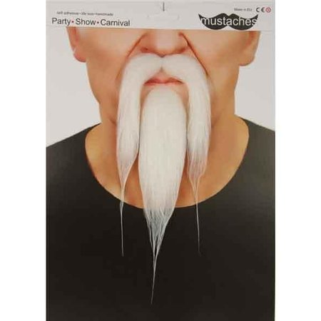 Snor + baard wit Kong