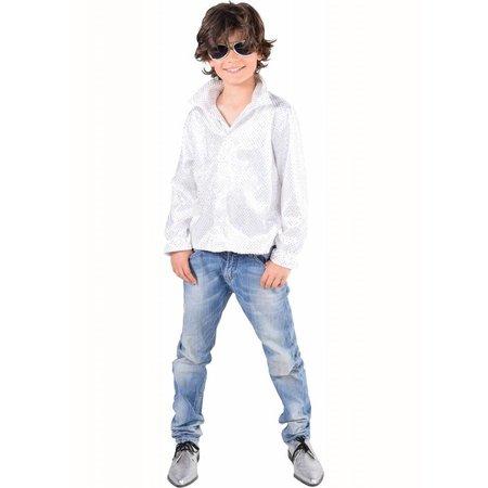 Glitter hemdje wit